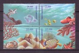 Turquie 1998 - MNH ** - Vie Marine - Michel Nr. 3140-3143 Série Complète (tur567) - Ungebraucht