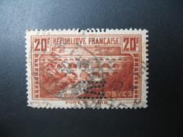Perforé  Perfin  Référence Ancoper France  :  M11 - Perforés