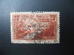 Perforé  Perfin  Référence Ancoper France  :  M11 - Perfins