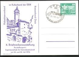 DDR PP16 D2/030 Privat-Postkarte SCHLOSS GREIZ Sost. 1976  NGK 4,00 € - [6] Oost-Duitsland