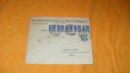 ENVELOPPE ANCIENNE DE 1938.../ EDUARD STREITZIG REICHENBERG TCHECOSLOVAQUIE POUR CLERMONT FRANCE CACHETS + TIMBRES X6 - Czechoslovakia