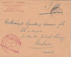 Lettre SM Cachet Ministère Armement  Service Fabrications Dans L'Industrie District De MARSEILLE 8/3/1940 à Roubaix - Marcofilie (Brieven)