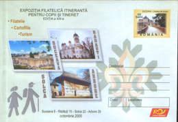 Romania - Stationery Cover Unused 2005(092) - Phil. Exh. Itinerant For Children And Youth - Suceava-Radauti-Solca-Arbore - Padvinderij