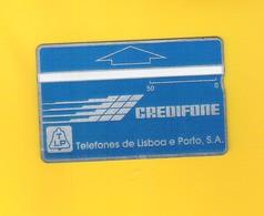 """PHONECARD - PORTUGAL """"CREDIFONE AZUL/PERIODO"""" 50U - 008A - LP11 - NOT USED - Portugal"""