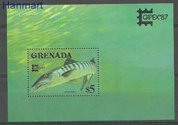 Grenada 1987 Mi Bl 186 MNH ( ZS2 GRDbl186dav37B ) - Peces