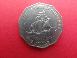 East  Caraibes  1 Dollar  1996  Km 20 - Territoires Britanniques Des Caraïbes