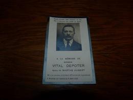 Souvenir Image Pieuse  Moustier Sur Sambre 1928  Vital Depoter Hubert La Louvière 1875 - Décès