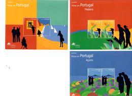 PORTOGALLO AZZORRE MADEIRA 2004 - EUROPA - LE VACANZE -3 FOGLIETTI MNH** - Madeira