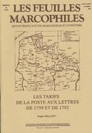 Les Tarifs De La Poste Aux Lettres De 1759 Et De 1792 - Philatélie Et Histoire Postale