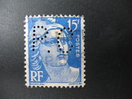 Perforé  Perfin  Référence Ancoper France  :  PC31 - Perforés