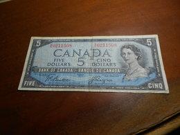 CANADA  1954  -  FIVE  DOLLARS  BILLET - DEVIL  HAIR - Canada