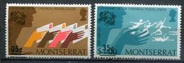 Montserrat Mi# 312+317 Postfrisch MNH - UPU 1974 - Montserrat