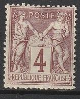 France 1877-80 N° 88 MH Type Allégorique (F18) - 1876-1898 Sage (Type II)