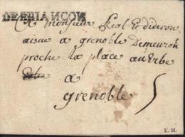 5 Hautes Alpes Marque Postale DEBRIANCON Avec N Inversés 12 Fev 1750 Noir 41mmX4 Lenain N°4 Taxe Manuscrite 5 - Poststempel (Briefe)
