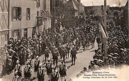 18 AUBIGNY Sur NERE15 AOUT 1931,publicité Au Dos JOSEPH MORIN,GRAINS,signée BOURASSIN - Aubigny Sur Nere