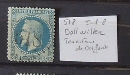 02 - 20 // France N° 29 - Oblitéré GC 518 - Bollwiller - Territoire De Belfort    - Indice 8 - 1863-1870 Napoléon III Lauré