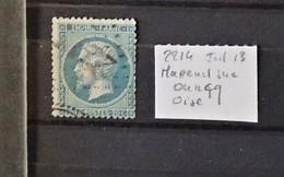 02 - 20 // France N° 29 - Oblitéré GC 2214 - Mareuil Sur Ourque - Oise  - Indice 13 - 1863-1870 Napoléon III Lauré