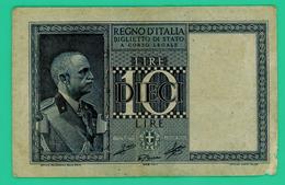 10 Lires - Italie - 1939 - N° 0575/488595 - TB + - - Italia – 10 Lire