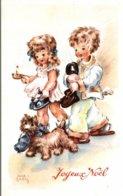 JOYEUX NOEL  LUCE ANDRE ENFANTS PORTANT LEURS CHAUSSONS - Illustratori & Fotografie