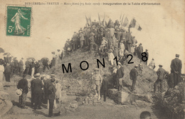 BERGERES LES VERTUS (51)  MONT AIME (15 AOUT 1910) INAUGURATION DE LA TABLE D'ORIENTATION - Ohne Zuordnung