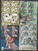 SAMOA - MNH - Animals - Reptiles - Snakes - WWF - Serpientes