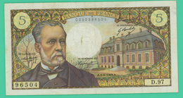 5 Francs - France - Pasteur - N° D.97/96504 - 5-6-1969 - TTB - - 1962-1997 ''Francs''