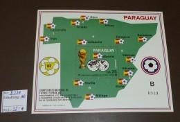 Paraguay Block Michel Nr: 377  Fußball WM Espana 1982 ** Postfrisch MNH #B538 - Paraguay