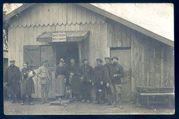 Cpa Carte Photo Du 60 Conchy Les Pots Restaurant Du Lion D' Or Maison Pétel Dans Les Ruines En 1919 DEC19-44bis - Sonstige Gemeinden