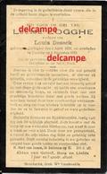 Doodsprentje Louise Logghe Ichtegem 1850 En Overleden Te Damme 1933 Deseck Koekelare Eernegem - Images Religieuses