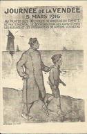 """Journée De La Vendée , 5 Mars 1916 , """" Premiers Pas """" , Illustrateur : F. POULBOT + Cachet De La Préfecture Au Dos - Poulbot, F."""