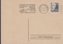 Alliierte Besetzung Slogan 'Briefmarken Ausstellung Leipzig DEBRIA' HALLE (Saale) 1950 Card Karte Keine Postsendung ! - Sowjetische Zone (SBZ)
