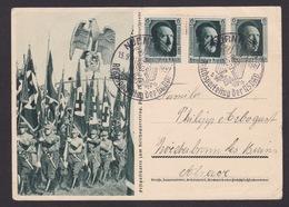 AK Propaganda / Festpostkarte Zum Reichsparteitag Der NSDAP / Gelaufen 1937   ..  ( E 767 ) - Sonstige