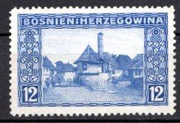 BOSNIE HERZEGOVINE (Administration Austro-hongroise) - 1912 - N° 61 - 12 H. Outremer - (Vue De Jojce) - Bosnie-Herzegovine