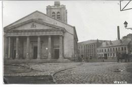 CARTE-PHOTO WW1 NORD 59 WAVRIN   Eglise  Etat De La Commune Pendant L'Occupation (1  Angle Un Peu Touché ) - Autres Communes