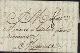 Marque Postale NYONS Quasi à Sec Drôme 30 Mai 1790 23x4mm 1751/1791 Lenain N3 Ou 3A Taxe Manuscrite 8 - Poststempel (Briefe)
