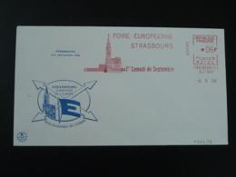 Lettre Cover EMA Slogan Meter Foire Européenne De Strasbourg Europa 1958 - 1958