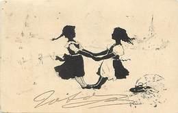 Ref Y544- Silhouettes - Silhouette Enfants  - Illustrateurs - Dessin Illustrateur - - Silhouettes