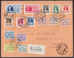 Vaticano, Serie Conciliazione Con Espressi Su Raccomandata Per La Svizzera           -CL37 - Lettres & Documents
