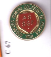 C67 Pin's GOLF ASSGF Association Golfeurs Séniors France Superbe Qualité Arthus Signé DRAGO Achat Immédiat - Golf