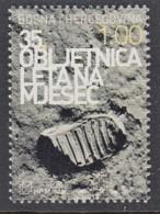 14.- BOSNIA AND HERZEGOVINA MOSTAR 2004 35th Anniversary Of The Flight To The Moon - Europa