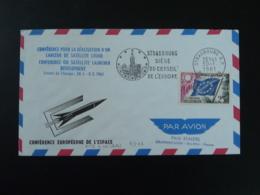 Lettre Cover Conférence Européenne De L'espace Space Europe Conference Lanceur Satellite Fusée Europa Strasbourg 1961 - Covers & Documents