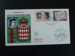 FDC 450eme Anniversaire Roi King Louis XII Medieval Monaco 1962 (ex 1) - FDC