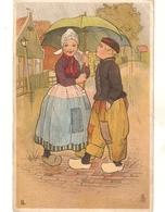 """L.L. Pyand Girl. Under Ubrella""Tuck Little Hollander Ser.PC # 1379 - Tuck, Raphael"