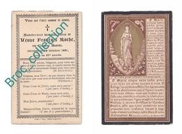 Lille Ou Environs, Mémento De Mme Veuve François Roche, Née Claudine Bastide, 28/10/1891, 66 Ans, à Localiser, Décès - Images Religieuses