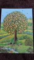 CPSM ARBRE SAISON ETE DESSIN HELENA CORTES ED RUNSTVERLAG DEUTSCH - Trees