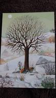 CPSM ARBRE SAISON HIBVER CHOUETTE HIBOU RENARD DESSIN HELENA CORTES ED RUNSTVERLAG DEUTSCH - Trees
