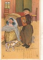"""L.L. Boy Playing Accordeon For Baby"" Tuck Little Hollander Ser.PC # 1379 - Tuck, Raphael"