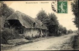 Cp Beuzeville Eure, Chaumière - France