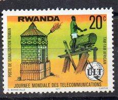 RWANDA - UIT - 1977 - 20ç - POSTE DE SIGNALISATION ROMAIN - TAM TAM AFRICAIN - - Rwanda