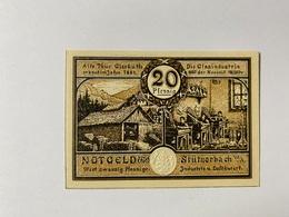 Allemagne Notgeld Stutzerbach 20 Pfennig - Collections